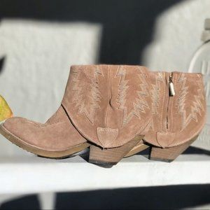 Women's Modern Vice Spirit Brown Suede Ankle Boots